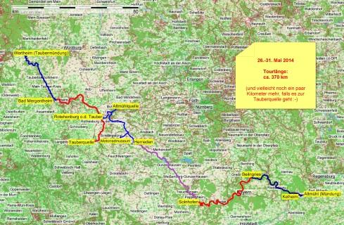 Tauber-Altmühl-Tour 2014