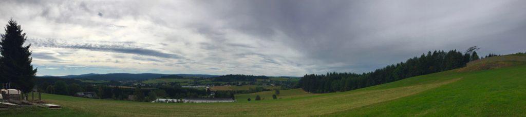 Freier Blick über das Vogtland